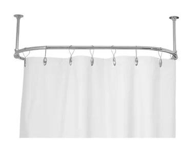 shower curtain rods bathroom