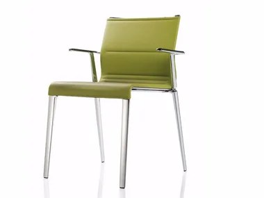 stackable restaurant chairs lane desk chair leather archiproducts with armrests stick atk quattro
