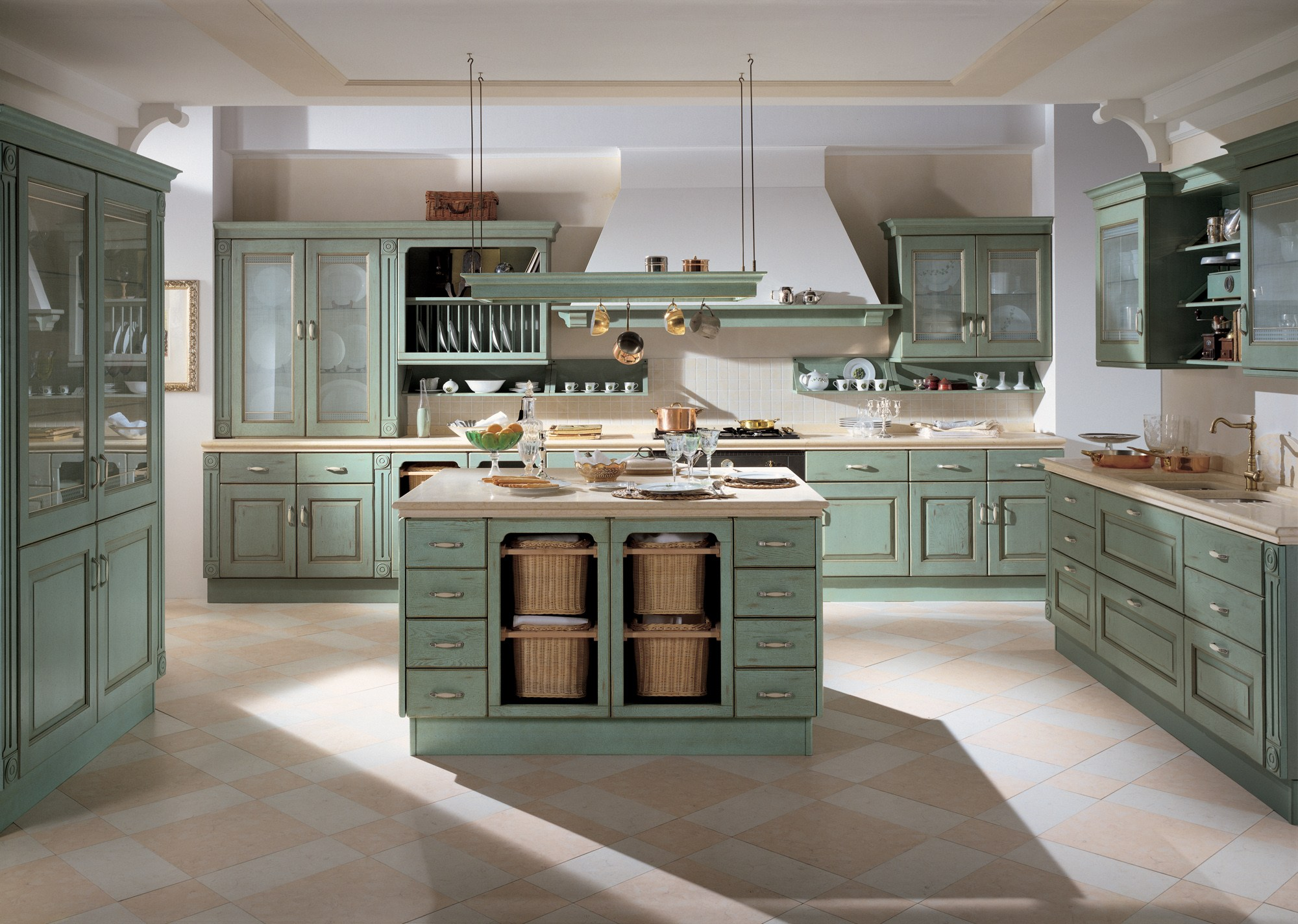 Fitted kitchen BELVEDERE Scavolini Line By Scavolini
