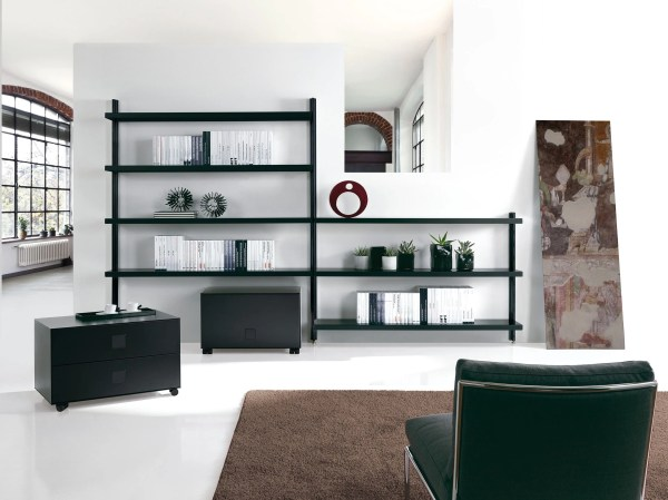Big Home Wall-mounted Bookcase Caimi Brevetti Design