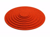 Felt drink coaster / placemat COASTER ROUND by HEY-SIGN