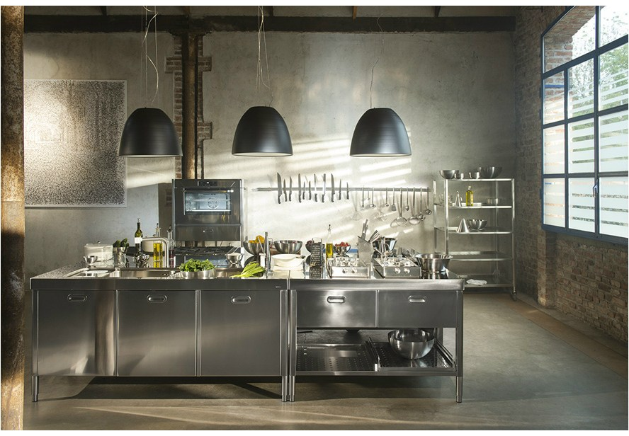 Stainless steel kitchen By ALPESINOX