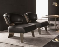 Easy chair CREED WOOD by Minotti design Rodolfo Dordoni