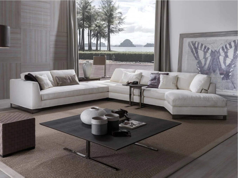 DAVIS FREE Sectional sofa by FRIGERIO POLTRONE E DIVANI