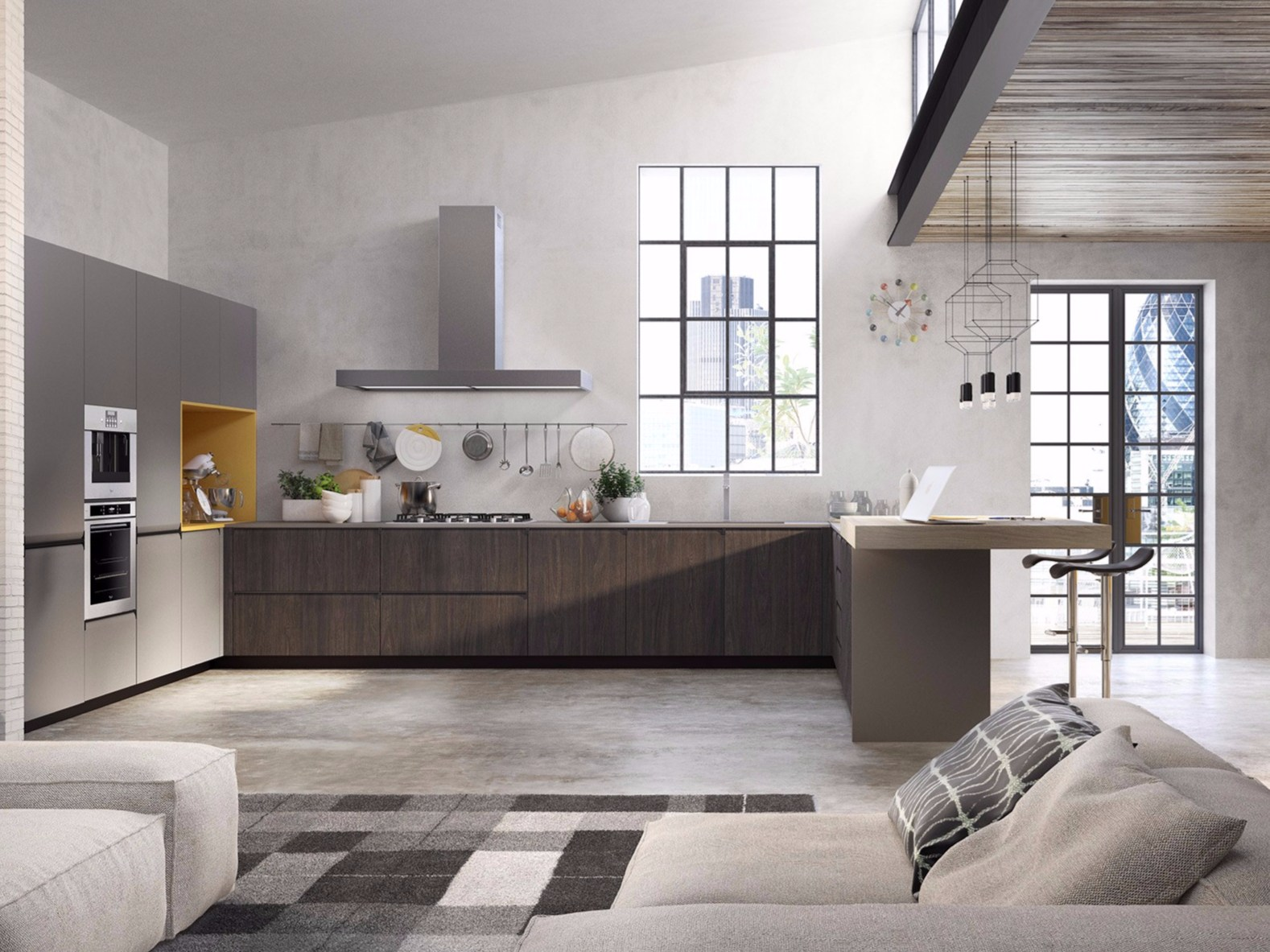 GIBILTERRA Kitchen with integrated handles by Del Tongo