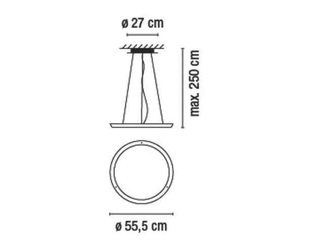 Suspension en méthacrylate HALO CIRCULAR By Vibia design