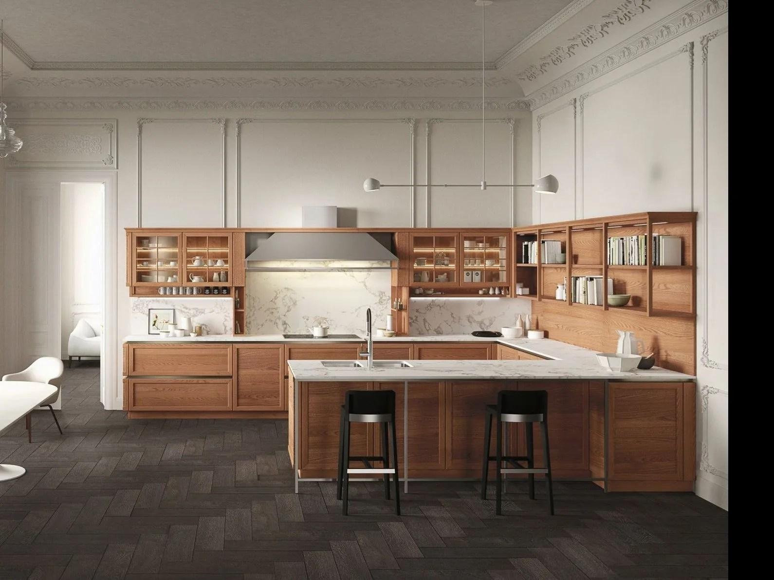 HERITAGE Cucina in legno by Snaidero design Massimo Iosa Ghini