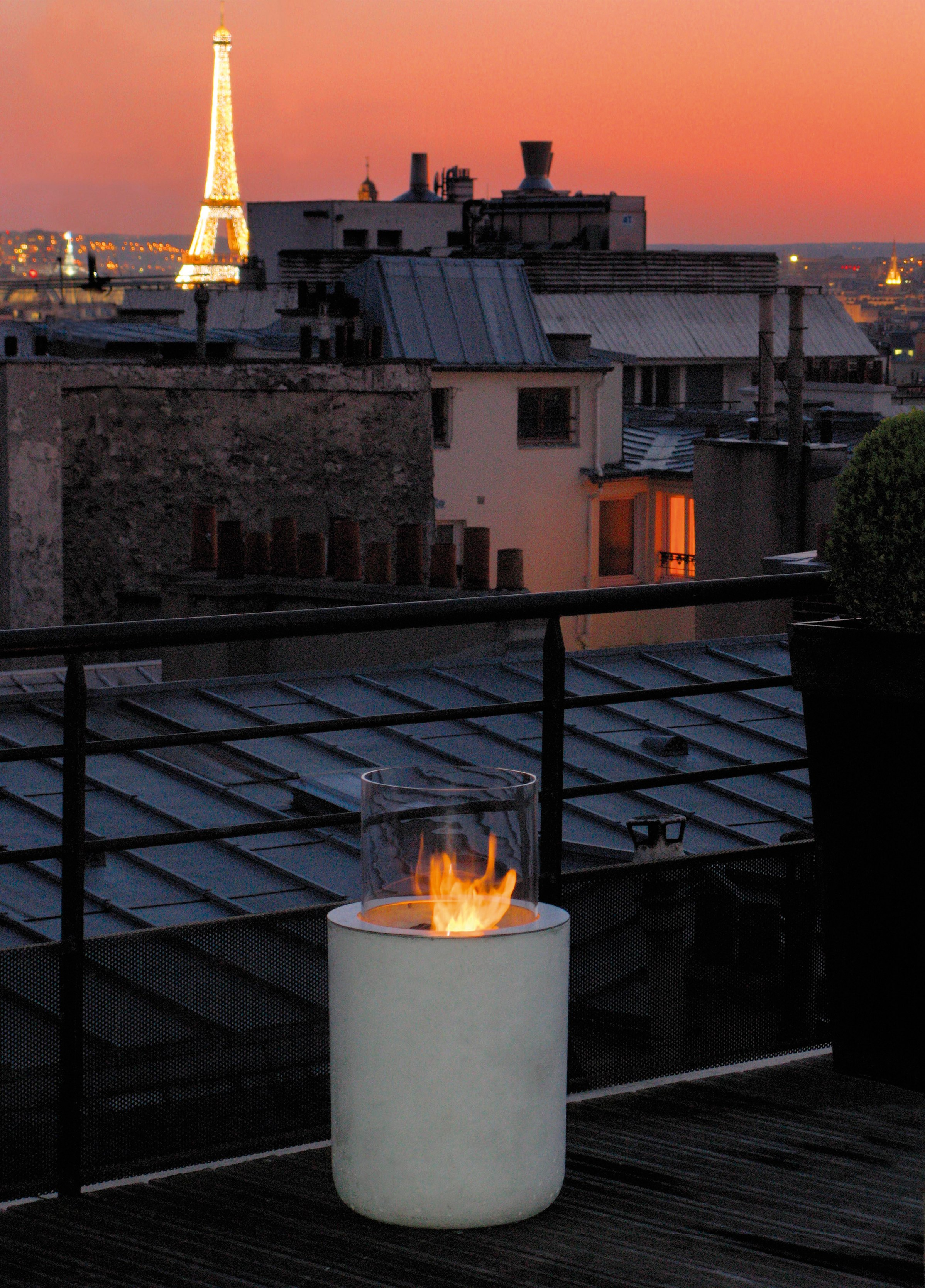 Outdoor Freestanding Bioethanol Fireplace Jar Commerce By