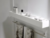 K Krion bathroom wall shelf by Systempool