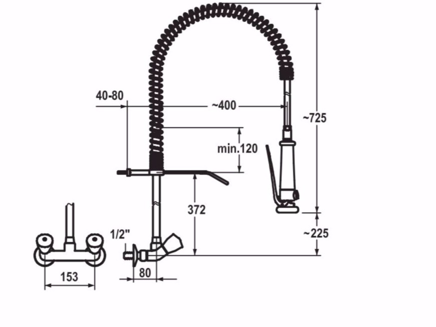 kwc kitchen faucet cabinet base 厨房水龙头kwc gastro 厨房水龙头gastro系列by dimensions 厨房水龙头