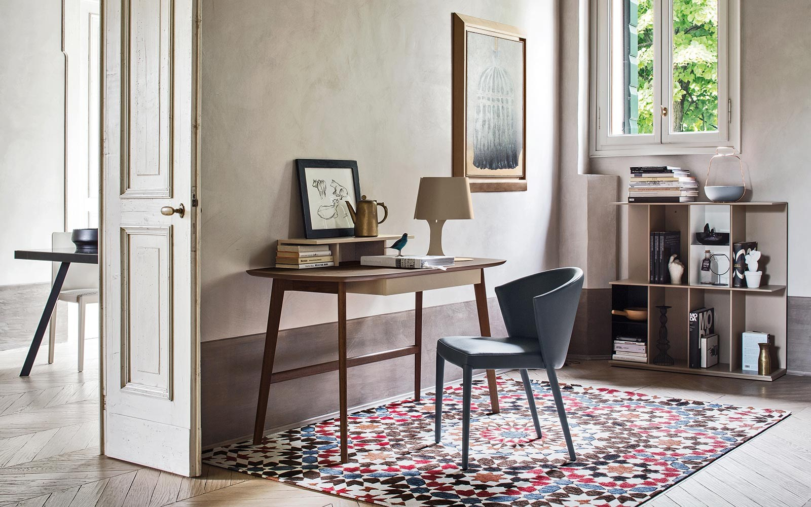 MATCH Writing desk by Calligaris design Gino Carollo