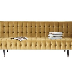 3 Seater Fabric Sofa Corner Peterborough Tufted Milchbar Honey By Kare Design