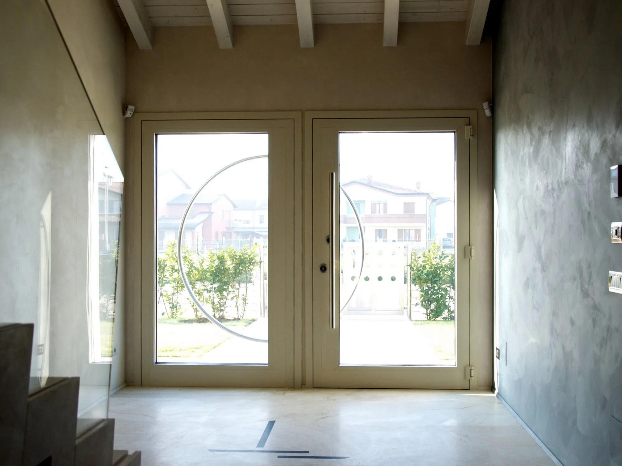 Porta blindata a vetri in alluminio taglio termico PRT