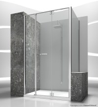 Custom tempered glass shower wall panel REPLAY RM+RV By ...
