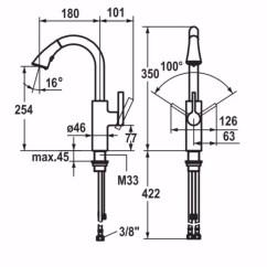 Kwc Kitchen Faucet Light Maple Cabinets Saros 厨房水龙头saros系列by Dimensions 厨房水龙头