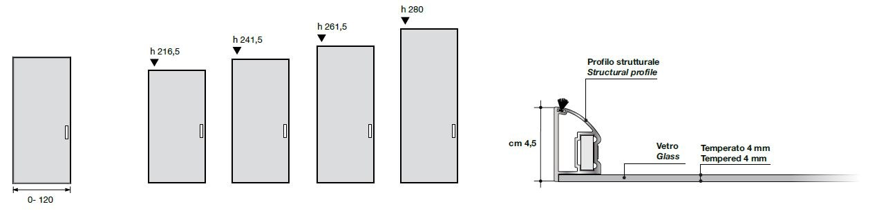 cabinet door diagram distributed control system screen glass aluminium chic collection by longhi dimensions