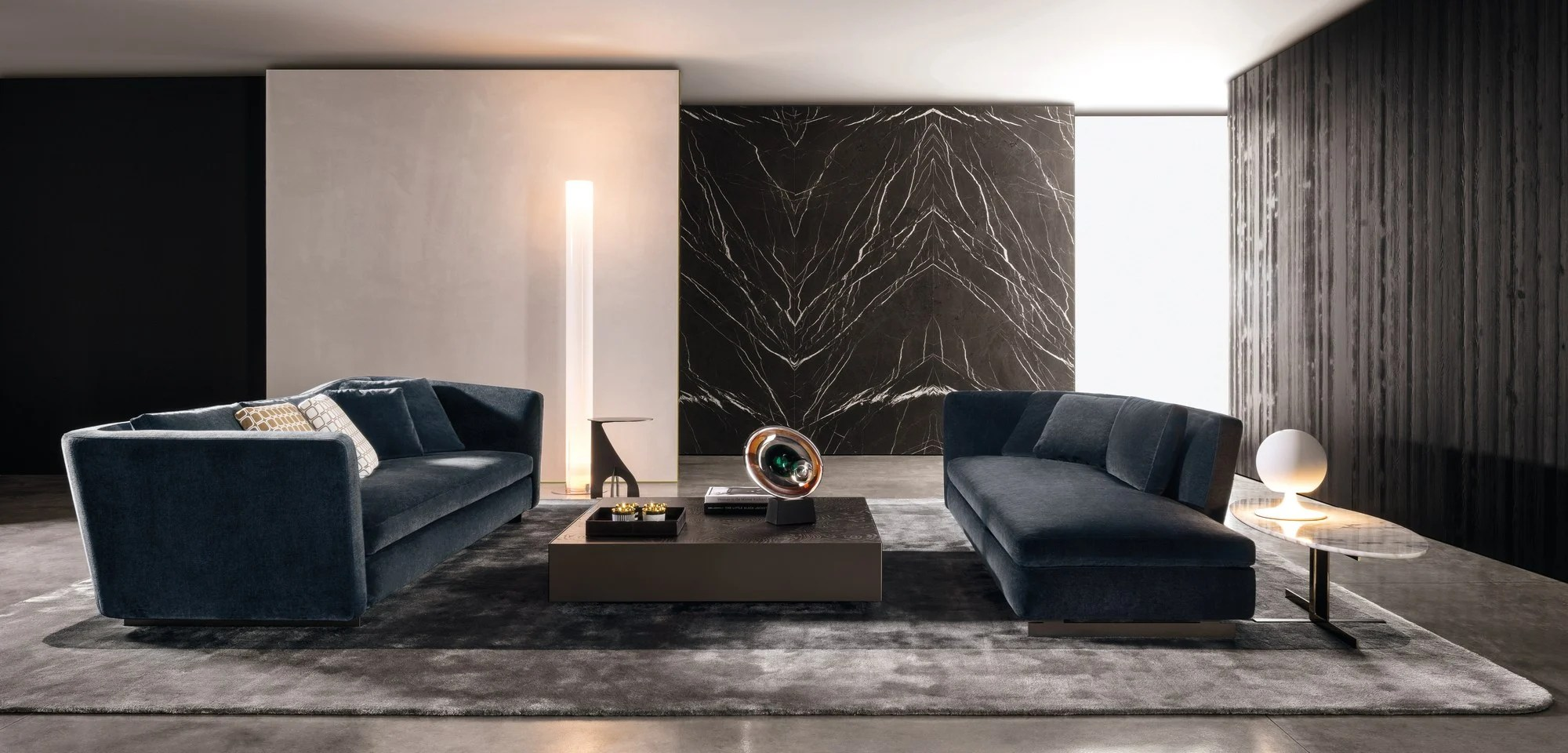 fabric cover for leather sofa deep sectional sofas living room furniture seymour by minotti