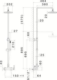 SHOWER COLUMNS Shower panel with hand shower by NEWFORM