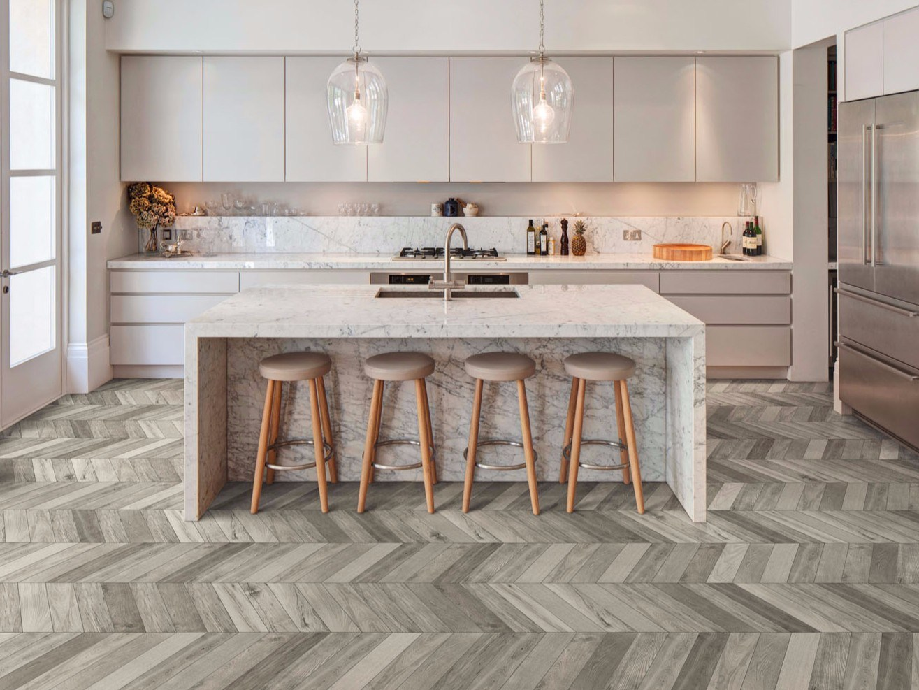 Porcelain stoneware flooring with wood effect TREVERKSOUL