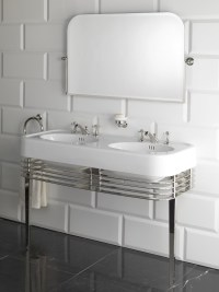 Double console sink WIDE BLUES by Devon&Devon