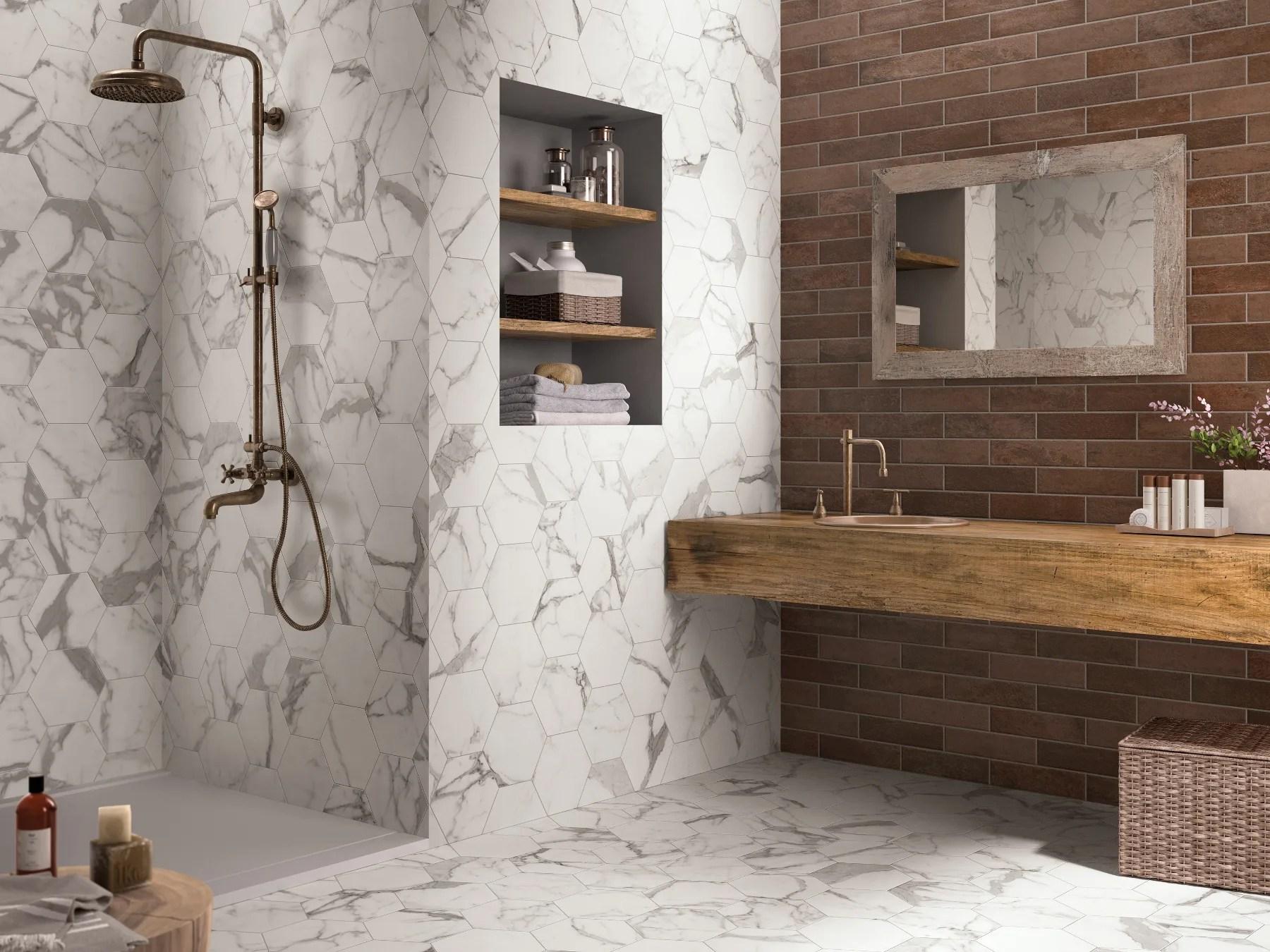 Rivestimento bagno piastrelle esagonali piastrelle esagonali