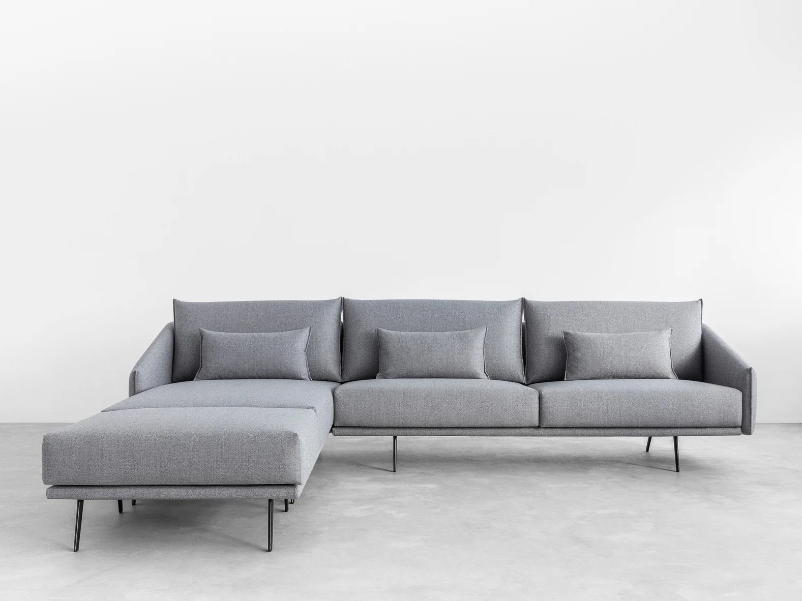 chaise longue fabric sofa lazy boy collins costura with collection by stua