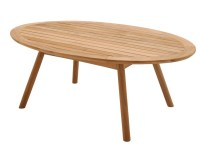Oval teak garden side table Dansk Collection by Gloster ...
