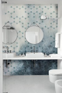 Motif bathroom wallpaper FROZEN WET SYSTEM  16 Collection ...
