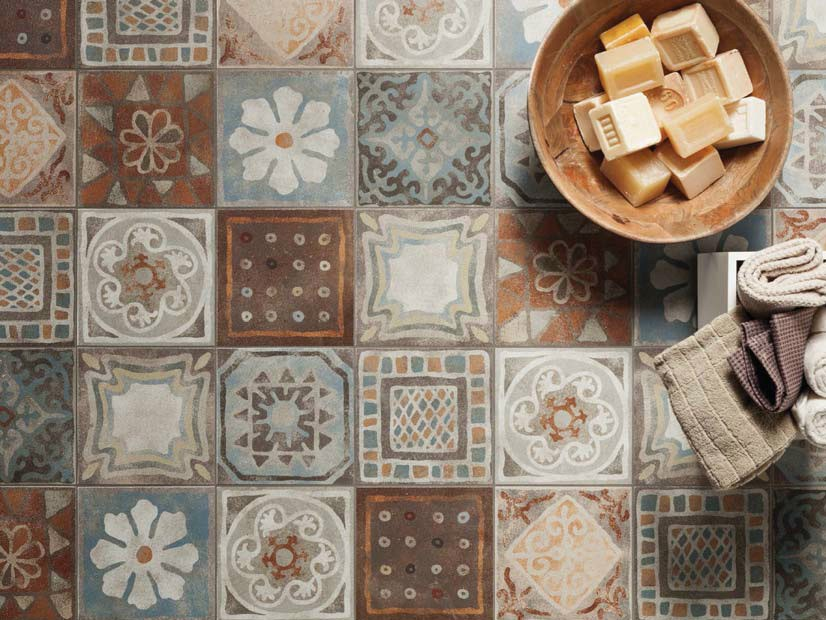 Porcelain stoneware wallfloor tiles MEMORY MOOD DECORS