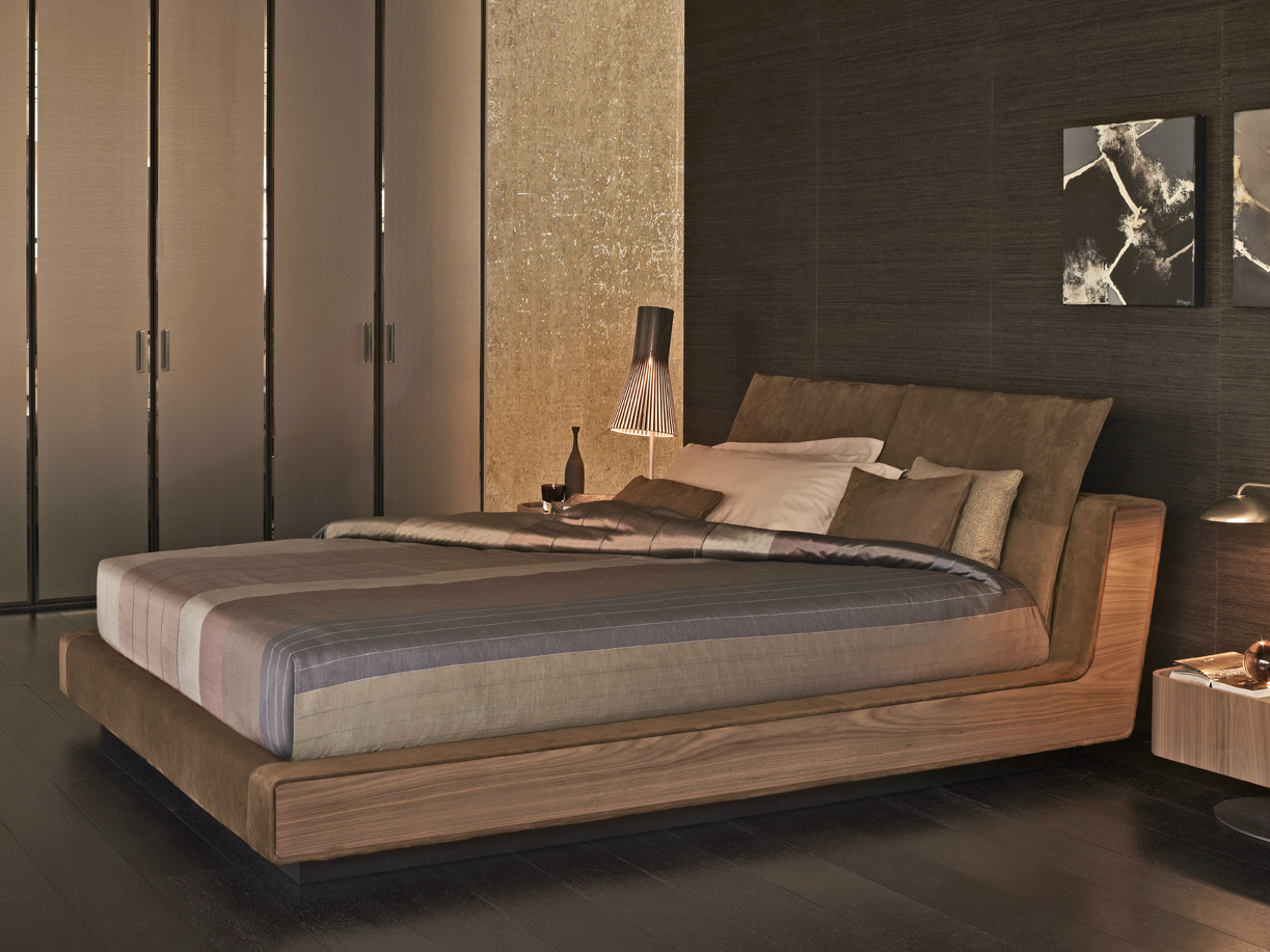 LETTO MATRIMONIALE LETTO IN NOCE SERIE SAMA BY FLOU  DESIGN CUNO FROMMHERZ
