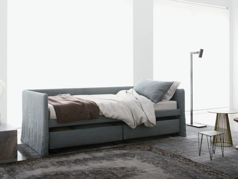 Letto  dormeuse in tessuto DUETTO by Flou