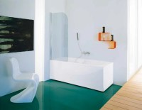 GLASS BATHTUB WALL PANEL CLASSIC COLLECTION BY SAMO