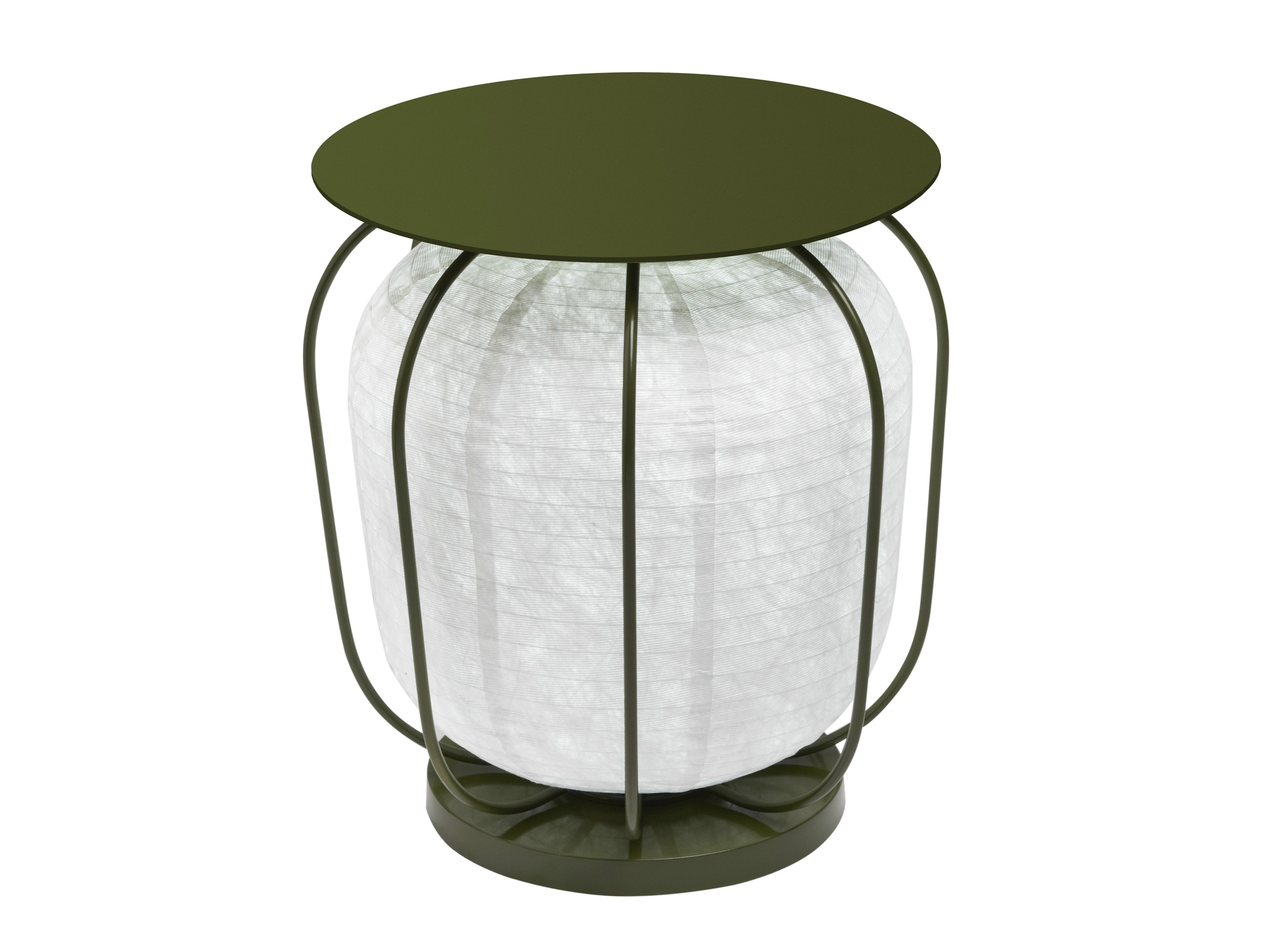 ROUND GARDEN SIDE TABLE WITH BUILT-IN LIGHTS IN & OUT