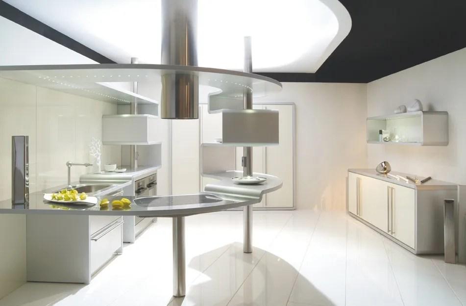 Cucina in alluminio con penisola ACROPOLIS by Snaidero design Pininfarina