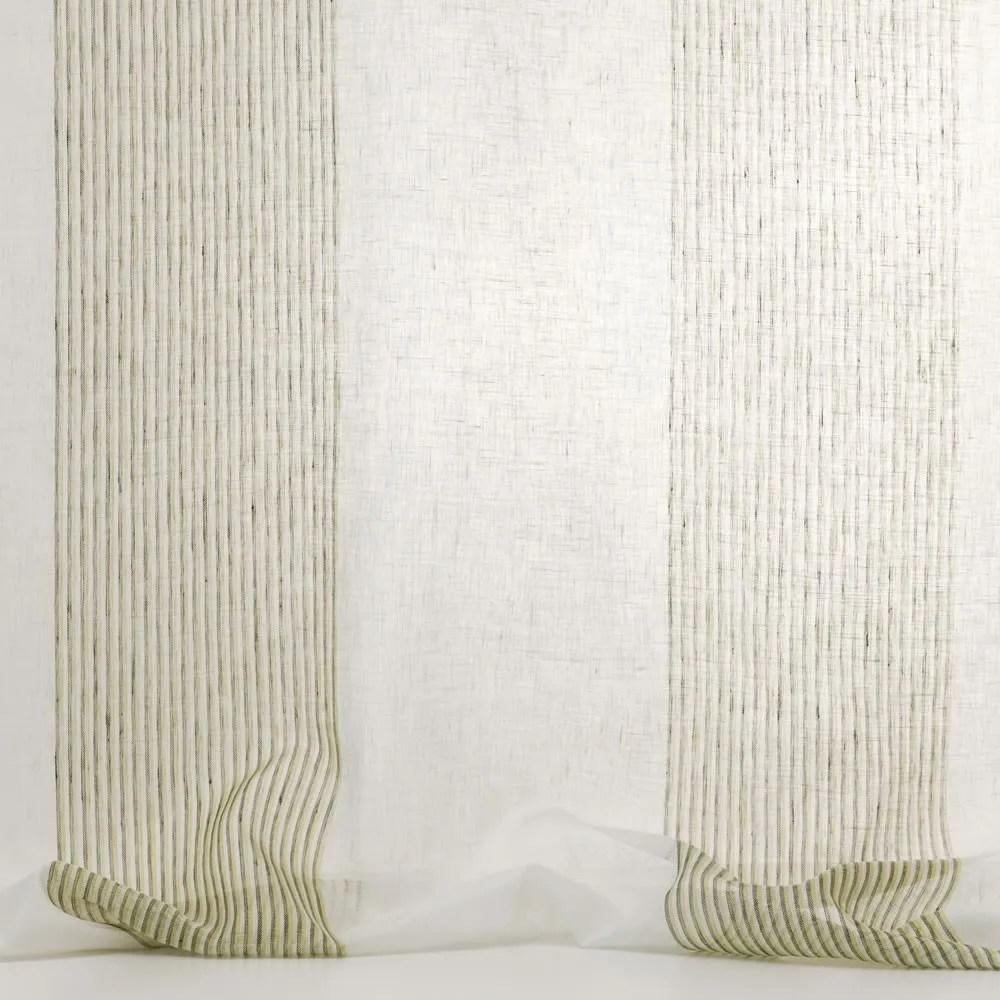 Tejido lavable voile de lino para cortinas LINNEA by Dedar