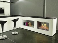 FIRENZE Double-sided Fireplace insert by ITALKERO