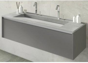 Doppio Lavabo Bagno | Mobile Bagno Moderno Sospeso 120 Cm Doppio ...