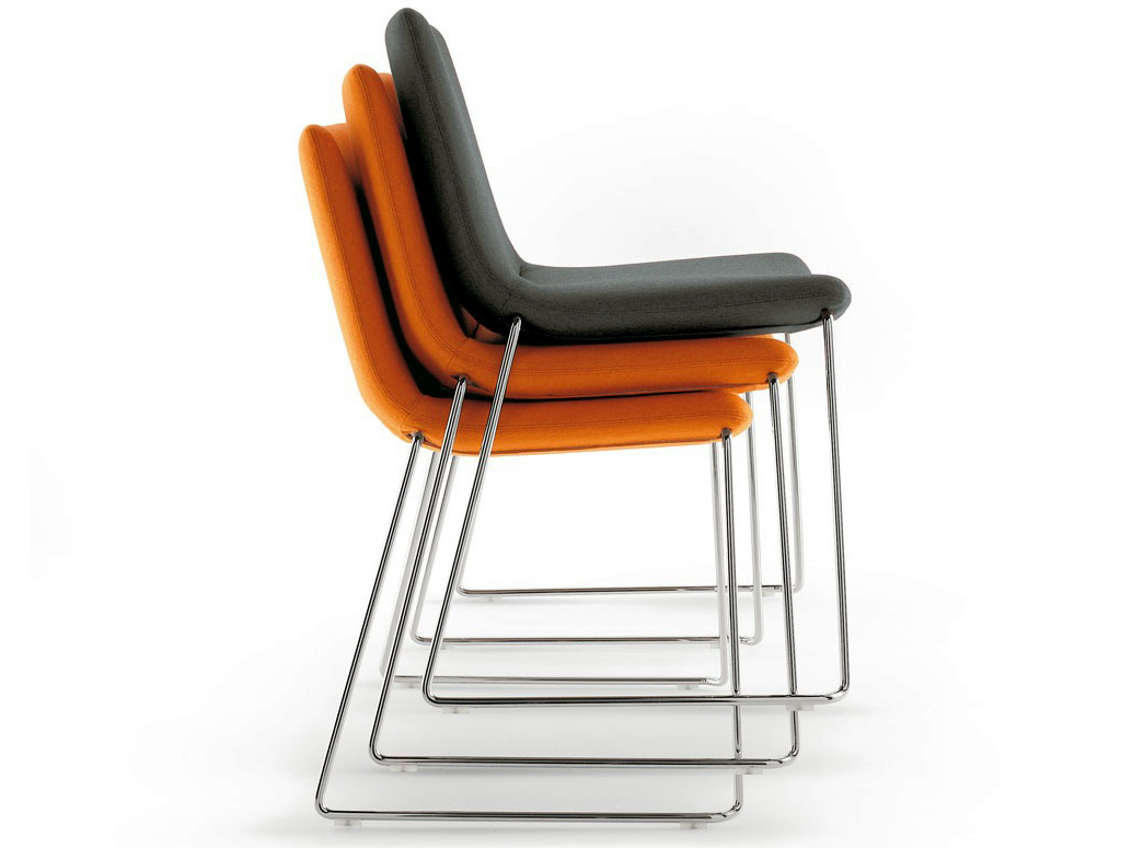 COSMOS Stackable chair by BB Italia Project a brand of BB Italia Spa design Jeffrey Bernett