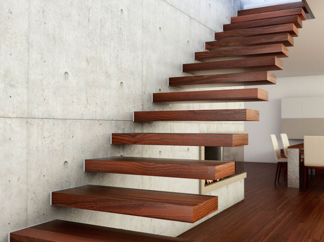 800  Cantilevered staircase By Interbau