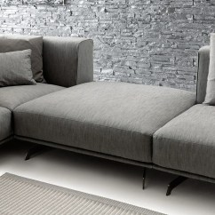 Soft Sofa Material Black Leather Covers Sectional Fabric Dalton By Ditre Italia Design