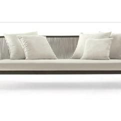Sofa Steel Baseball Wascherei Spool 3 Seater By Roda Design Rodolfo Dordoni