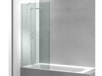 Tempered glass bathtub wall panel LINEA FB by VISMARAVETRO ...