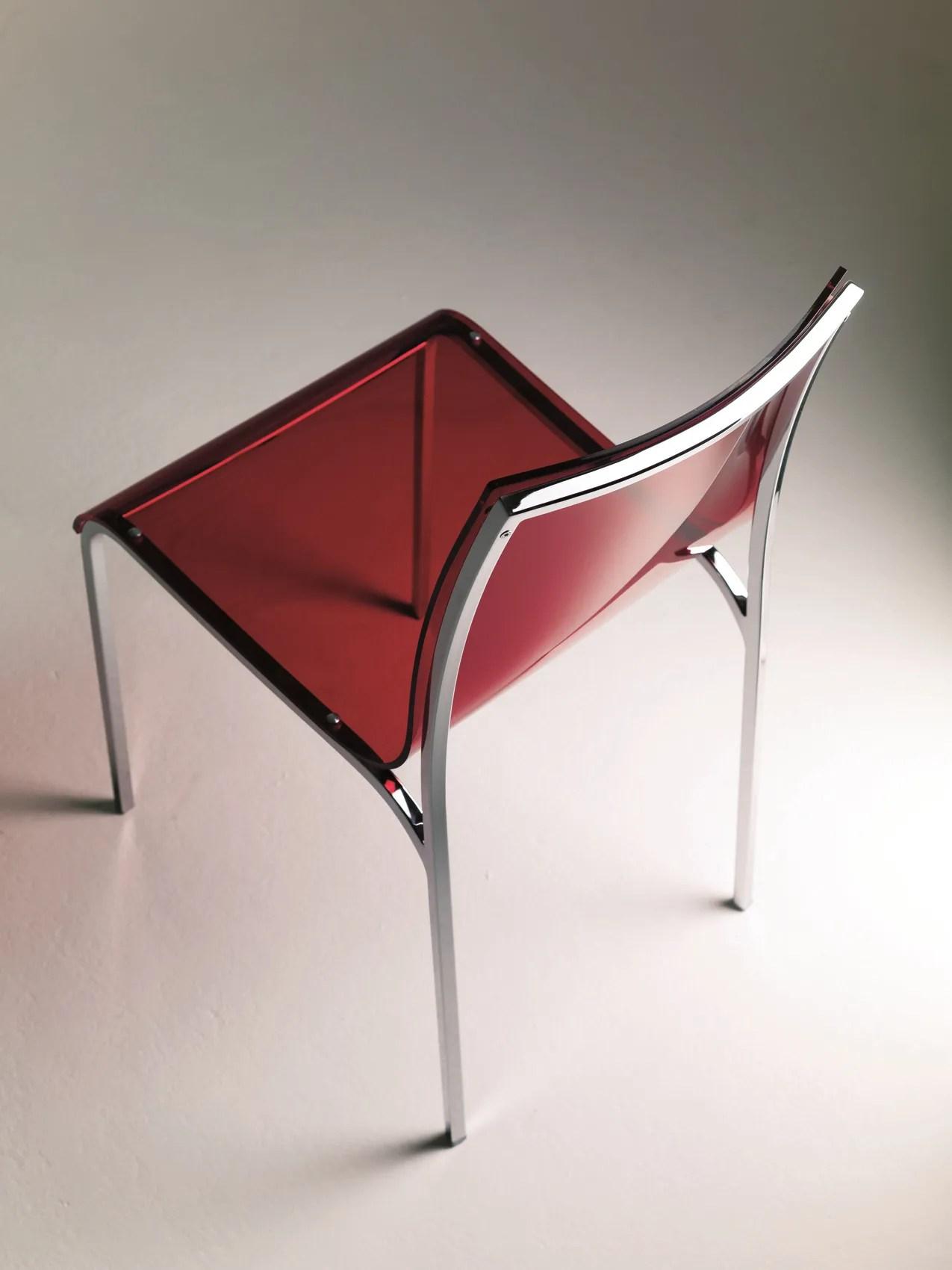 Acrylic glass chair YOGA by Bontempi Casa design Daniele