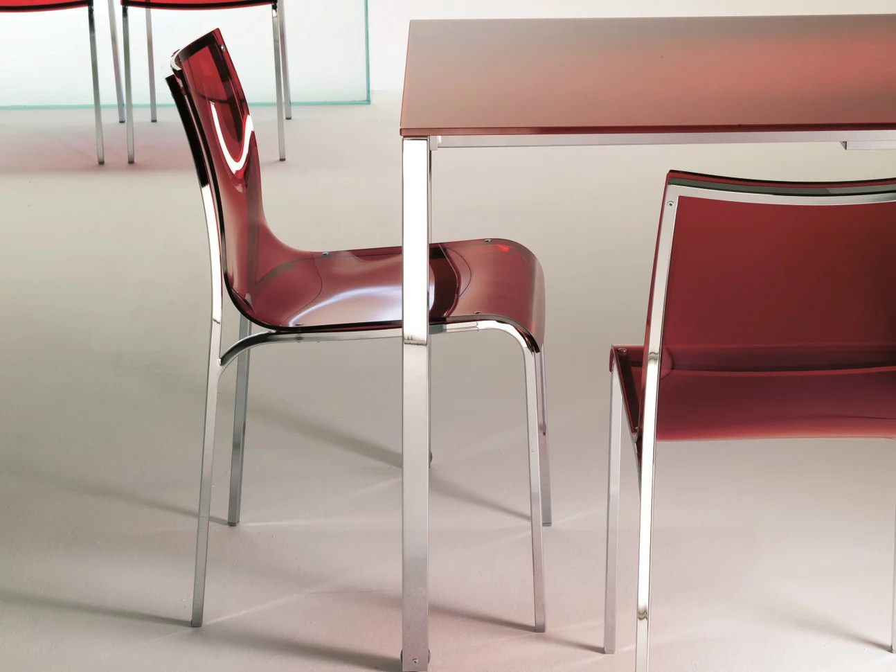Glass Chair Acrylic Glass Chair Yoga By Bontempi Casa Design Daniele