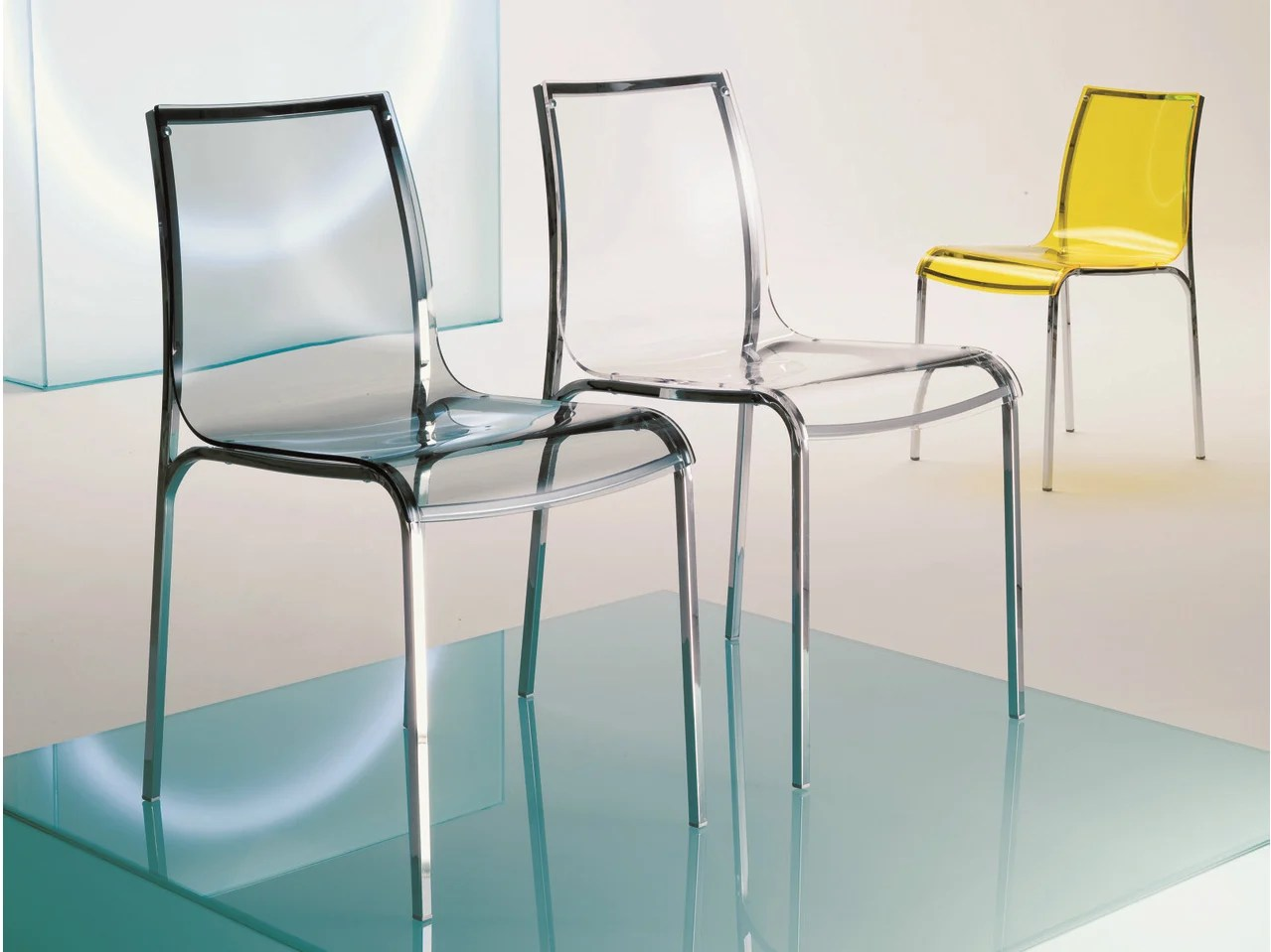 Acrylic Glass Chair Yoga By Bontempi Casa Design Daniele