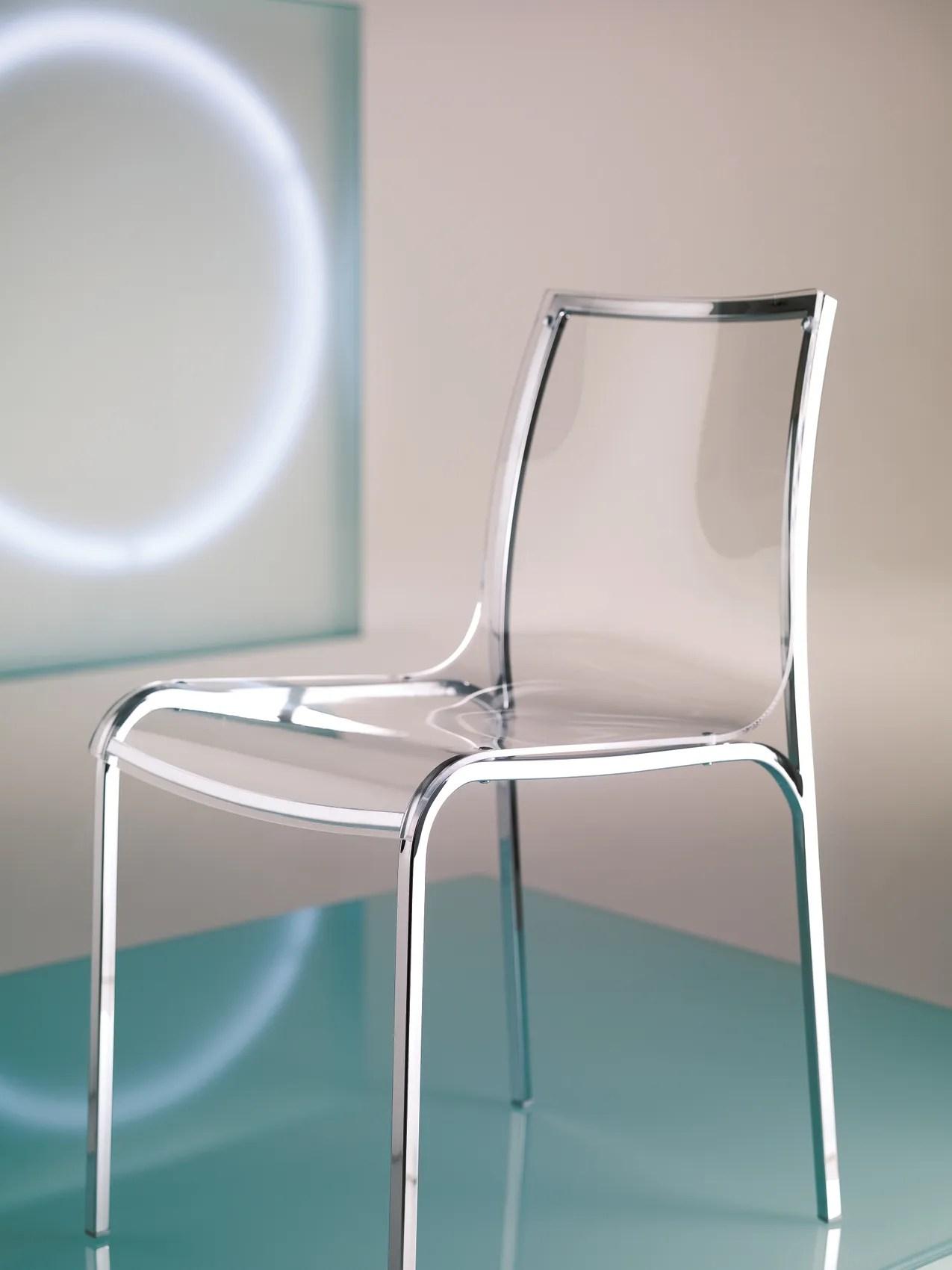 Sedia in vetro acrilico YOGA By Bontempi