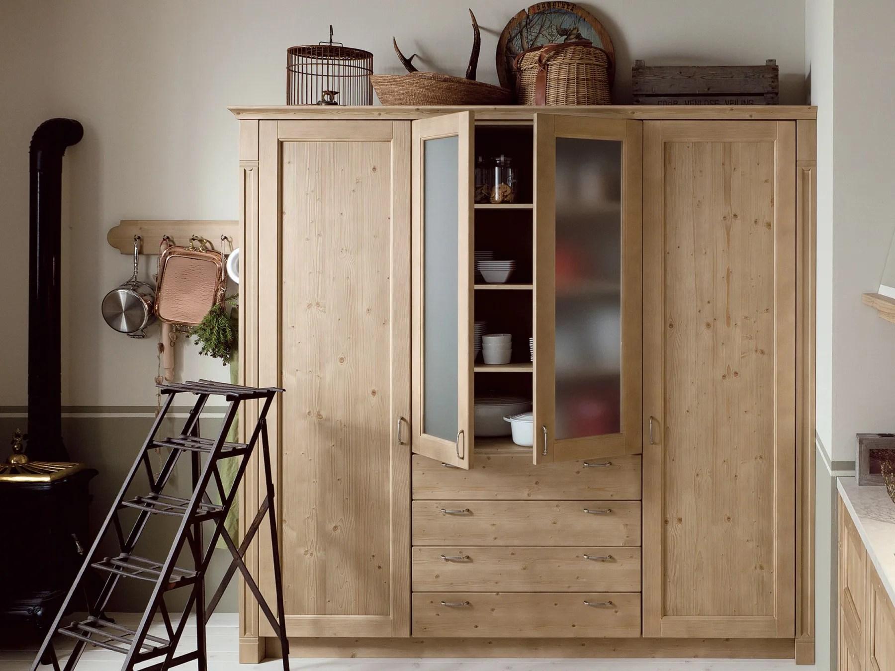 Cucina lineare in stile rustico TABI T02 by Scandola Mobili
