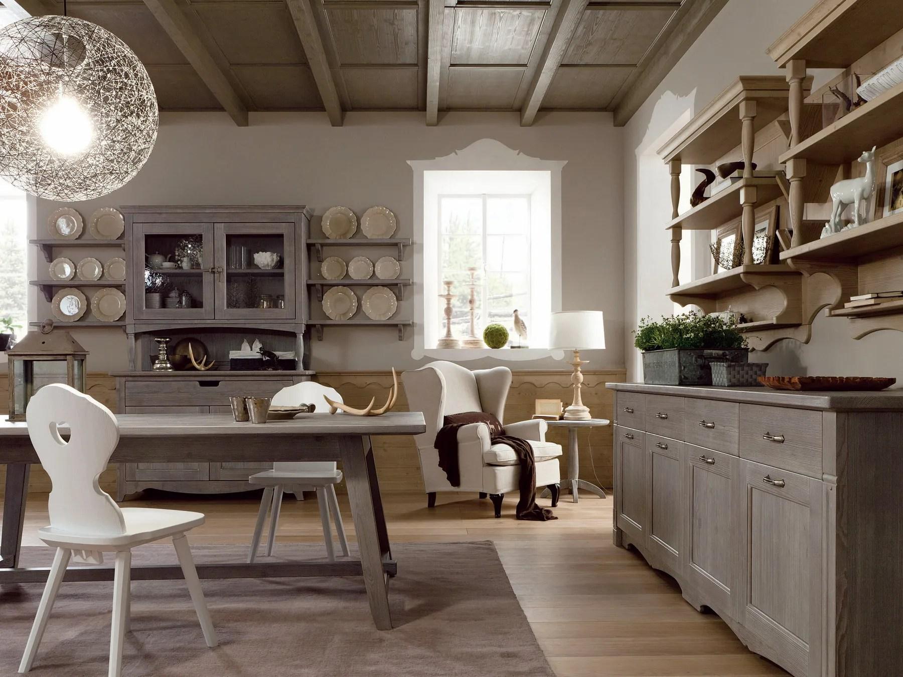 Cucina in stile rustico TABI T04 by Scandola Mobili