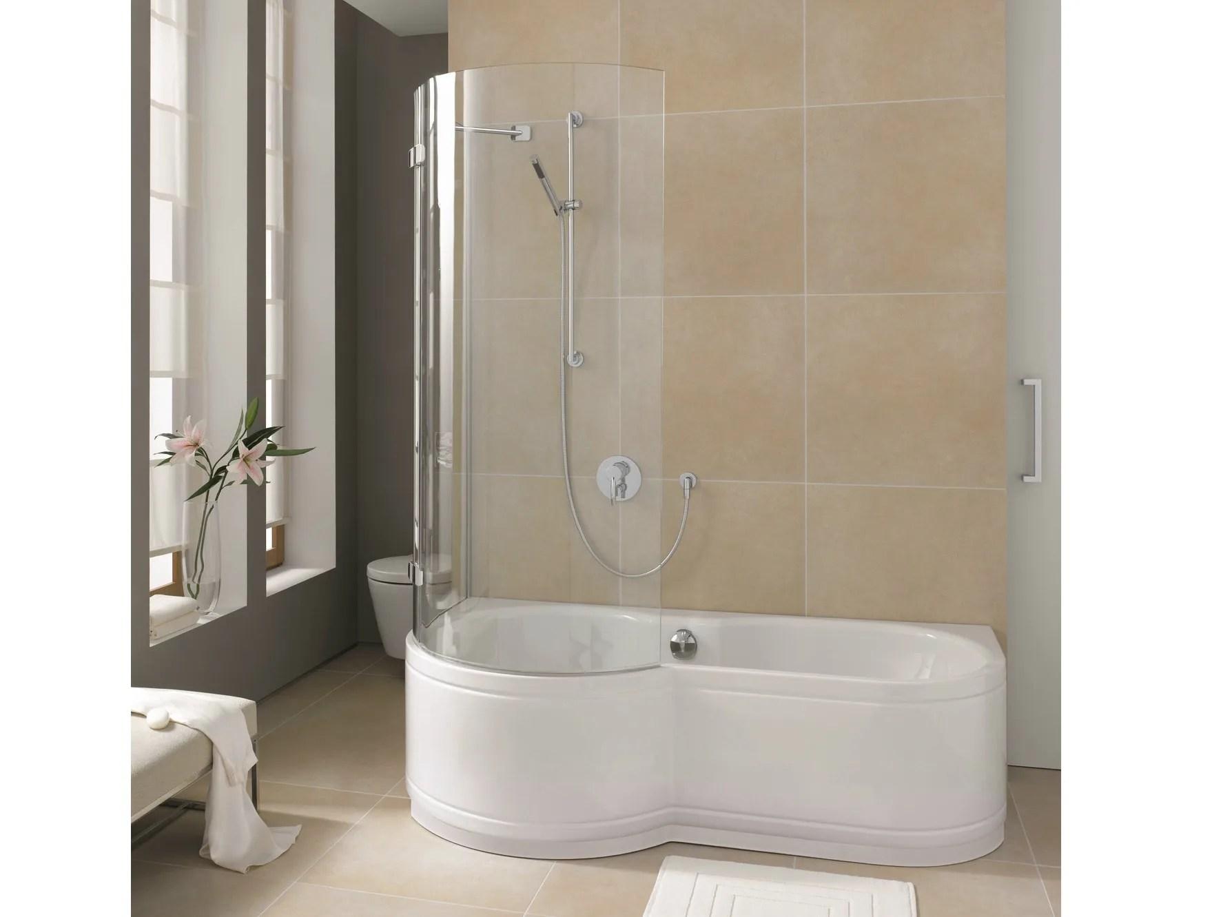 Vasca da bagno in acciaio smaltato con doccia BETTECORA RONDA by Bette design Sieger Design