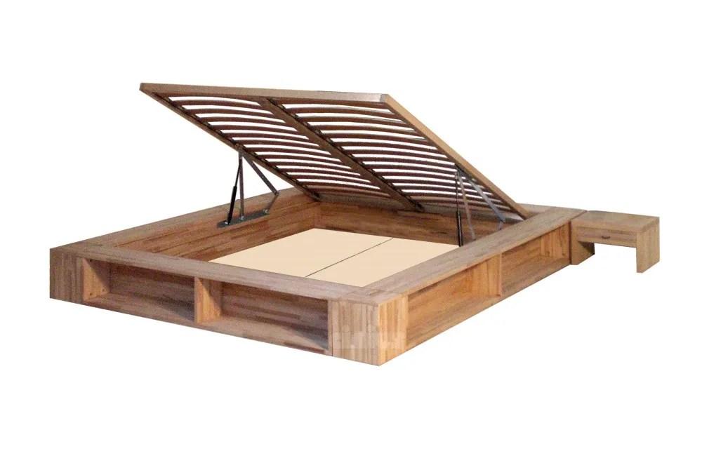 Tatami Doppelbett aus Holz mit Bettkasten LIBROLETTO by